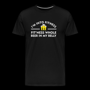 Into Fitness Fitness Whole Beer In Belly - Men's Premium T-Shirt
