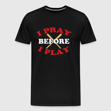 Christian Baseball Player Religious Gift - Men's Premium T-Shirt
