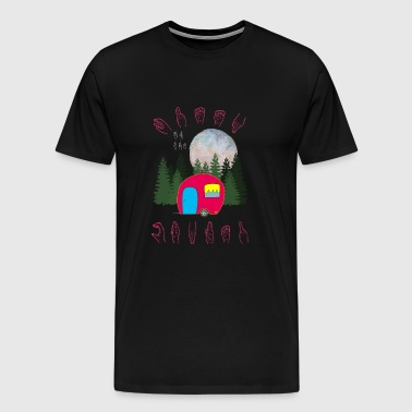 Queen Of The Camper - Camp Camping Sign Language - Men's Premium T-Shirt