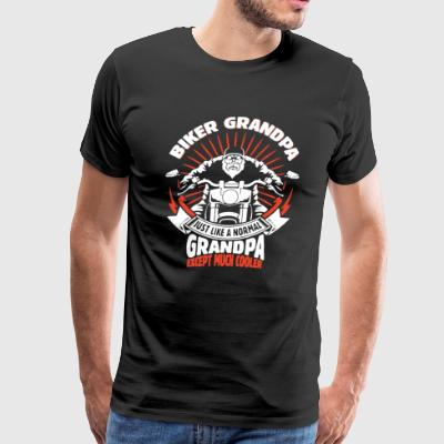 Biker Grandpa Except Much Cooler Shirt - Men's Premium T-Shirt