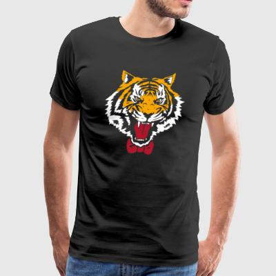 TIGER BOW TIE - Men's Premium T-Shirt