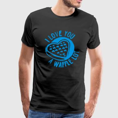 I Love you A Waffle Lot Funny - Men's Premium T-Shirt