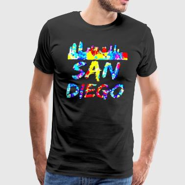 Diego California Paint Splatter - Men's Premium T-Shirt