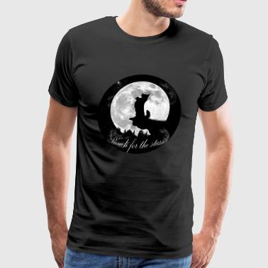 Reach for the stars - Welsh Corgi Cardigan - Men's Premium T-Shirt