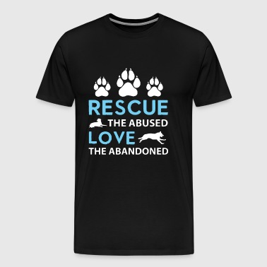 Rescue the abused - Men's Premium T-Shirt