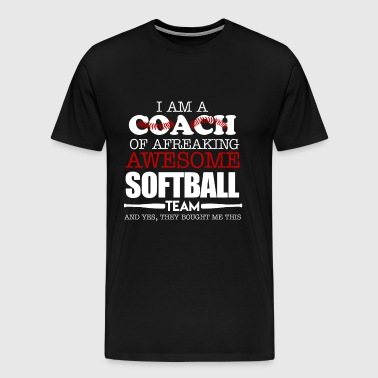 Softball Coach Shirts - Men's Premium T-Shirt