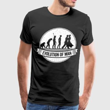 Funny Dancer Graphic Dancers Evolution Dancing Tee - Men's Premium T-Shirt