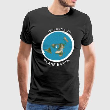 Welcome to Plane Earth - Men's Premium T-Shirt