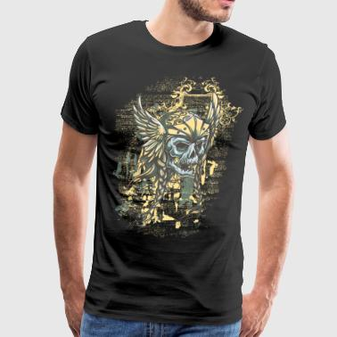 The ghost of Olav Tryggvason - viking skull - Men's Premium T-Shirt