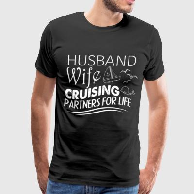 Husband Wife Cruising Partners For Life T Shirt - Men's Premium T-Shirt