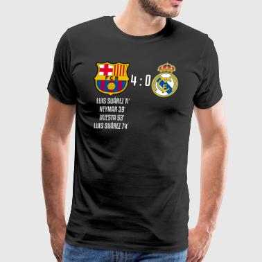 FC Barcelona 4-0 Real Madrid - Men's Premium T-Shirt