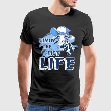 Giraffe Livin The High Life Shirt - Men's Premium T-Shirt