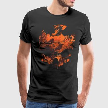 Abstract Skull T-Shirt - Men's Premium T-Shirt