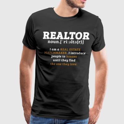 Realtor i am a real estate matchmaker i introduce - Men's Premium T-Shirt