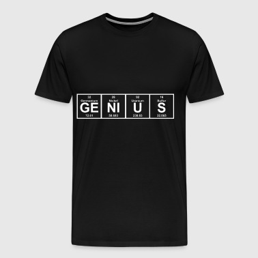 Genius Periodic Table Science - Men's Premium T-Shirt