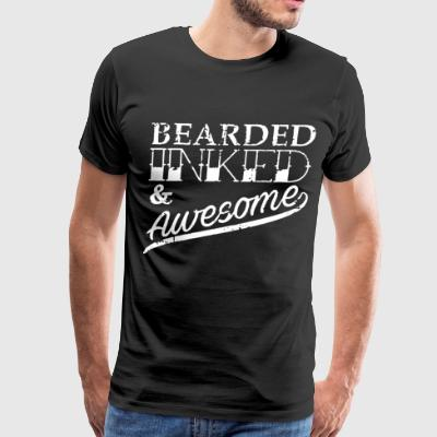 Bearded Inked and Awesome - Men's Premium T-Shirt