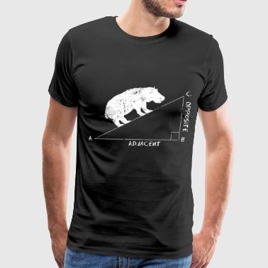 HIPPOTENUSE hippopotamus hypotenuse Math - Men's Premium T-Shirt