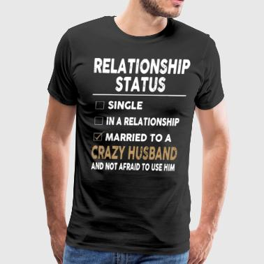 Relationship status single in a relationship marri - Men's Premium T-Shirt