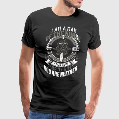 I am a man of the norse i fear odin and my wife yo - Men's Premium T-Shirt
