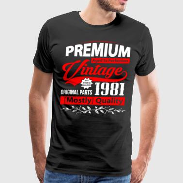 Aged to Perfection 1981 - Gift Idea - T-shirt - Men's Premium T-Shirt
