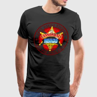Vintage Cannonball Bingo Badge Red - Men's Premium T-Shirt