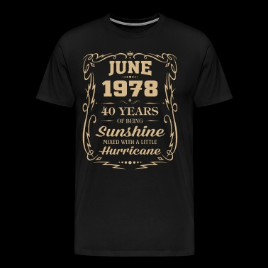 June 1978 Sunshine mixed Hurricane - Men's Premium T-Shirt
