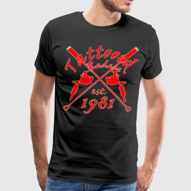 1981 Tattooed Badass - Year of birth - Tattoo - Men's Premium T-Shirt
