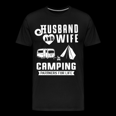 Husband and wife camping partners for life - Men's Premium T-Shirt