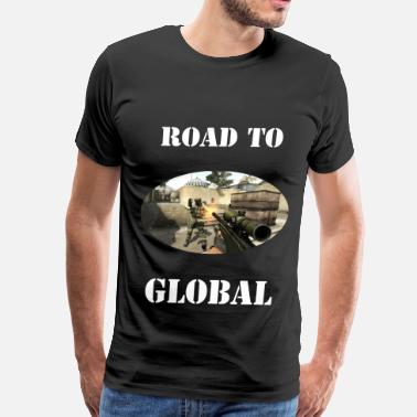 Counter Strike Global Offensive Csgo Road to GLOBAL - Men's Premium T-Shirt