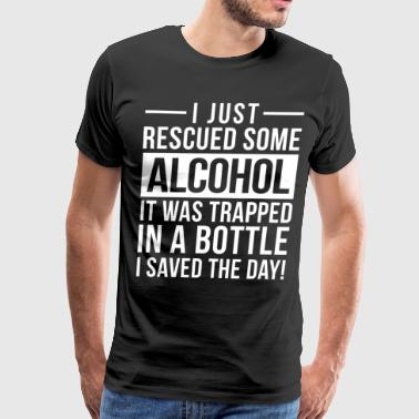 I just rescued some alcohol - Men's Premium T-Shirt