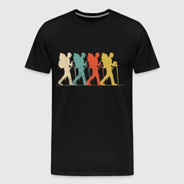 Vintage Hiking - Hiker Wanderer Outdoor Gift - Men's Premium T-Shirt