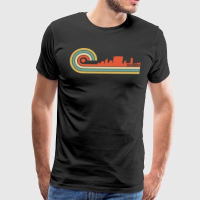 Retro Style Beaumont Texas Skyline - Men's Premium T-Shirt