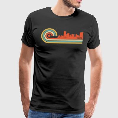 Retro Style Toledo Ohio Skyline - Men's Premium T-Shirt