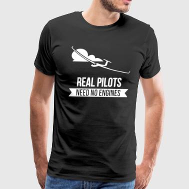 Real Pilots Need No Engines Shirt - Men's Premium T-Shirt