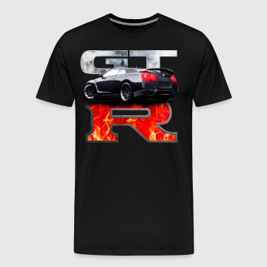 GTR In flames - Men's Premium T-Shirt