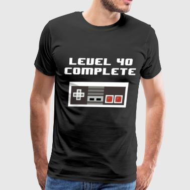 level 40 complete retro 40th birthday t shirts - Men's Premium T-Shirt