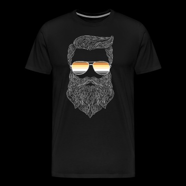 Hipster Daddy Bear Gay Pride - Men's Premium T-Shirt