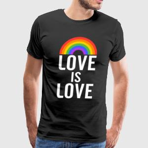 Love is Love Rainbow - Men's Premium T-Shirt