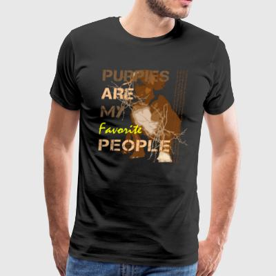 Puppies Are My Favorite People - Men's Premium T-Shirt