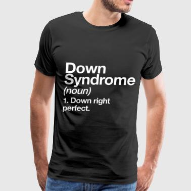 Down Syndrome Definition Awareness Month Awareness - Men's Premium T-Shirt