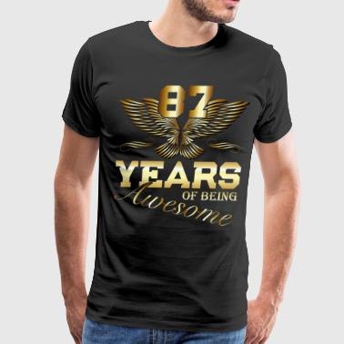 87 Years of being Awesome birthday present - Men's Premium T-Shirt