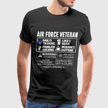 Air force veteran 100 organic - Men's Premium T-Shirt