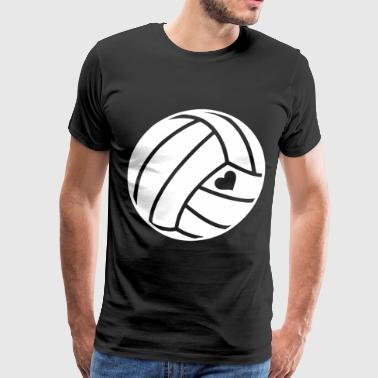 Heart Love Volleyball T Shirts - Men's Premium T-Shirt