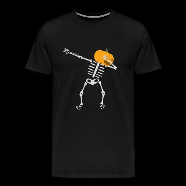 Dabbing Skeleton Pumpkin Funny - Men's Premium T-Shirt