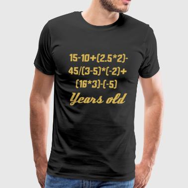 18 Years Old Algebra Equation - Men's Premium T-Shirt