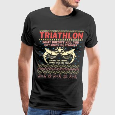 Merry Christmas Triathlon Season T Shirt - Men's Premium T-Shirt
