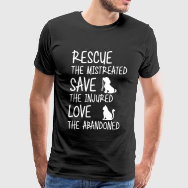 Rescue the mistreated save the injured - Men's Premium T-Shirt