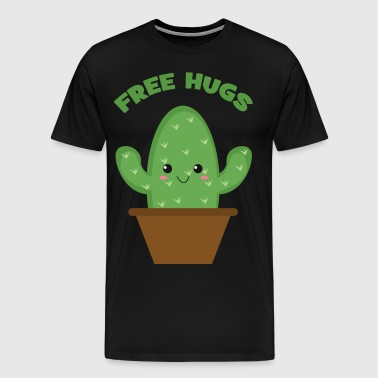 Free Hugs (Cute Cactus) - Men's Premium T-Shirt