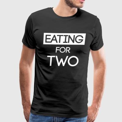 Eating for two shirt - Men's Premium T-Shirt