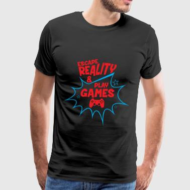 Escape reality play games gift - Men's Premium T-Shirt